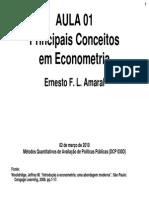 Principais Conceitos Em Econometria