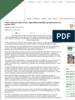 Censo Agropecuário 2006_ Agricultura Familiar Produz Mais Em Menor Área _ Portal EcoDebate