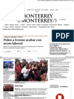 09-03-15 Piden a Ivonne acabar con acoso laboral
