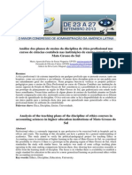 Análise dos planos de ensino da disciplina de ética profissional nos cursos de ciências contábeis nas instituições de ensino superior do Mato Grosso do Sul