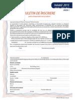 Formular de Inscriere Anul 2015 IMM