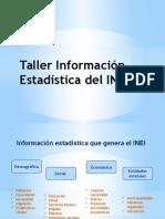 PPT Taller Información Estadística Del INEI