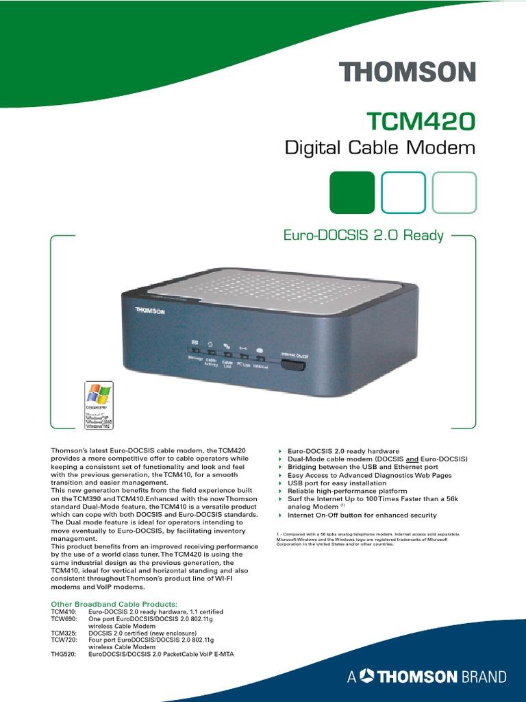 Tcm420 thomson digital broadband RCA Thomson