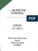 Manual de Instrucciones Para Tablero de Control at 220-5
