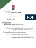 European Standard Curriculum Vitae