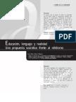 Educación Lenguaje y Realidad