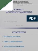 ACondiCionAmienTo y ClimA