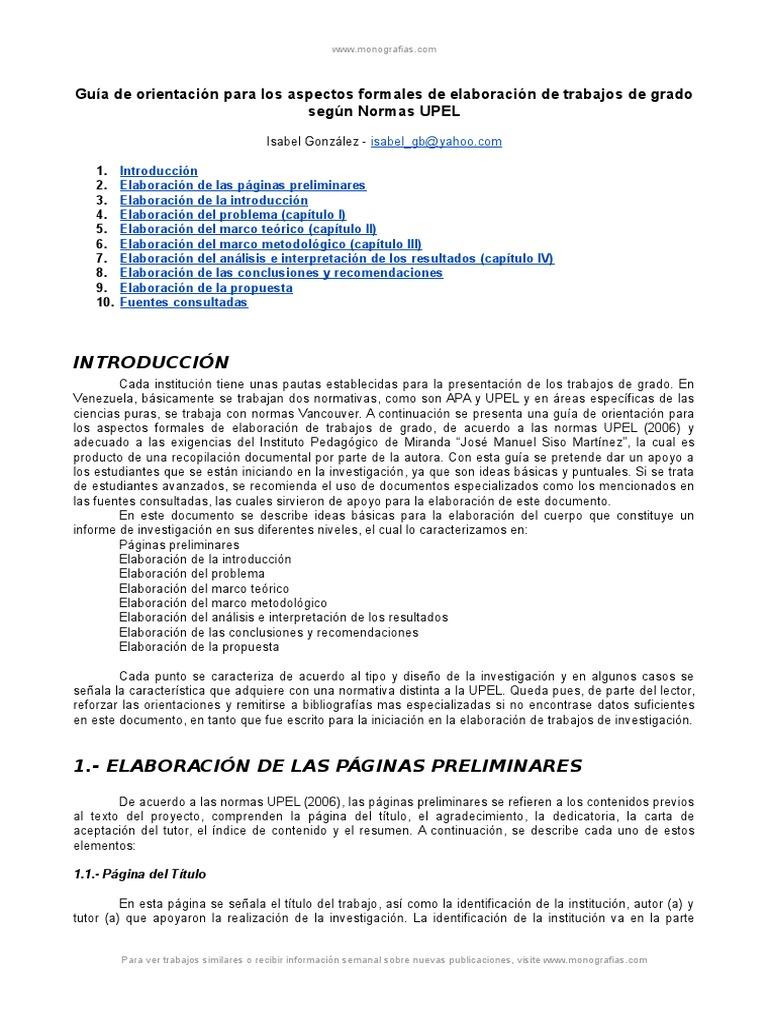 Guia Elaboracion Trabajos Normas Upel
