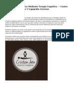 Abordaje Terapeutico Mediante Terapia Cognitiva. ~ Centro De Sicologia Clinica Y Logopedia Averroes