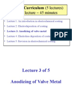 Lecture 3 Anodizing of Valve Metal