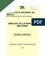 Ensayo General Analisis de La Realidad Nacional