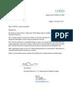 Carta de Recomendación 2013
