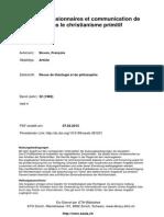 Practiques Missionnaires Et Communication de L_évangile Dans Le Christianisme Primitif_. RTP 32, 369-381.