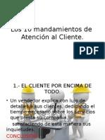Los 10 mandamientos de  Atención al Cliente.pptx