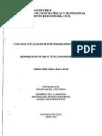 Catalogo Actualizado de Intensides Sismicas Para Chile - Tesis