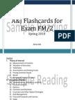 A&J Flashcards for exam SOA Exam FM/ CAS Exam 2