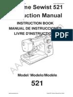Janome Sewist 521 Instruction Book