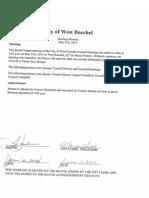 05/21/2014 West Buechel City Council special meeting - no quorum
