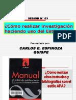 Sesion N_ 03 - Como Realizar Investigaciones en El Estilo Apa
