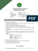Soal Usbn Pai Smk 2014 Paket A
