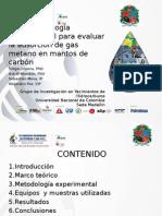 Adsorcion de gas metano en mantos de carbon XVCongresoPetroleoyGas2013