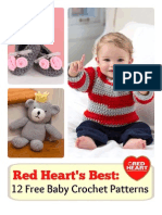 Red Hearts Best 12 Free Baby Crochet Patterns