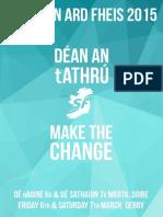 Sinn Fein Clár + Resolutions Ard Fheis 2015