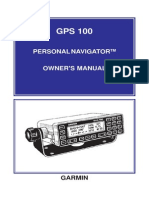 GPS 100 STD Personal Navigator Owners Manual