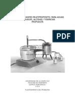 Destilador Casero Multiproposito