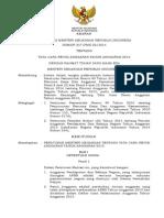 PMK Tata Cara Revisi Anggaran TA 2015