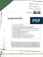 Análisis Factorial. Hair, Andersosn, Tathan y Black