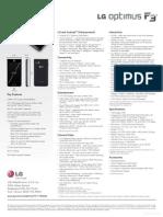 LG Optimus F3 P659 Spec Sheet