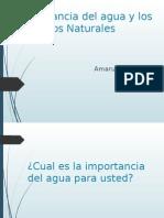 Importancia Del Agua y Los Recursos Naturales