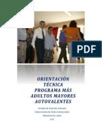 Orientación Técnica Programa Adultos Mayores Autovalentes Chile