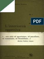 [Michele Federico Sciacca] L'Interiorità Oggettiva
