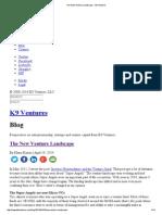 The New Venture Landscape - K9 Ventures