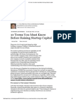 10 Terms You Must Know Before Raising Startup Capital