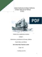Historicismo y Eclecticismo de Europa y Mexico