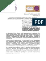 Comunicado IFAI 029 15