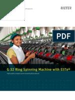 G 32 Ring Spinning Machine Leaflet 2397-V2 en Original 58293
