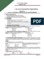 Modulo 05 y 06 - Grado de Una Expresion Algebraica1 - Valor Numerico Imprimir