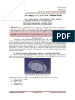 Finite Element Analysys of Axial Flow Turbine Blade