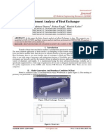 Finite Element Analysys of Heat Exchanger