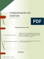 Programación en Internet prsentacion