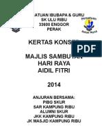 Contoh Paper Work Sambutan Hari Raya 2014