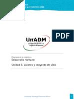 Unidad 3. Valores y Proyecto de Vida(1)