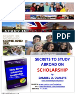 Secrets to Study Abroad on Scholarship