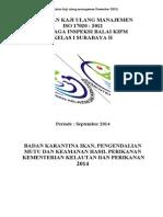 Kaji Ulang Managemen Iso 17020 (II) Lanjutan Des.2013