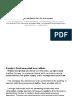 Google Enviromnt Sustainability