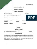 9 Sa1 English Sample Paper2